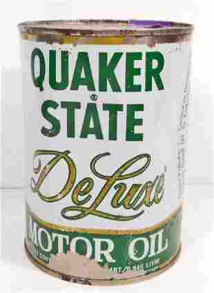 VINTAGE QUAKER STATE DELUXE ADVERTISING OIL CAN
