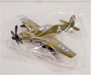 SMALL DIE CAST AIRPLANE WAR PLANE MINT IN PACKAGE