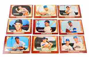 LOT OF 9 1955 BOWMAN BASEBALL CARDS CARDS VGEX