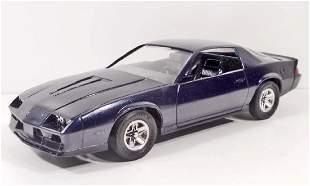 1982 DEALER PROMO TOY CAR CAMARO DARK BLUE MINT IN BOX