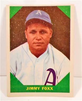 1960 FLEER JIMMY FOXX NO 53 BASEBALL GREATS CARD