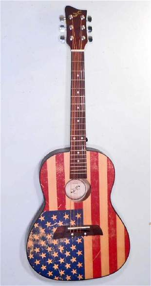 FIRST ACT AMERICAN FLAG ACOUSTIC GUITAR IN ORIG BOX