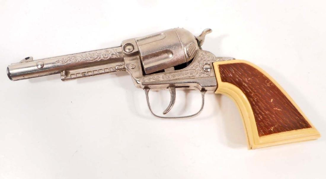 VINTAGE 18950S HUBLEY CAP GUN W/ PLASTIC HANDGRIP