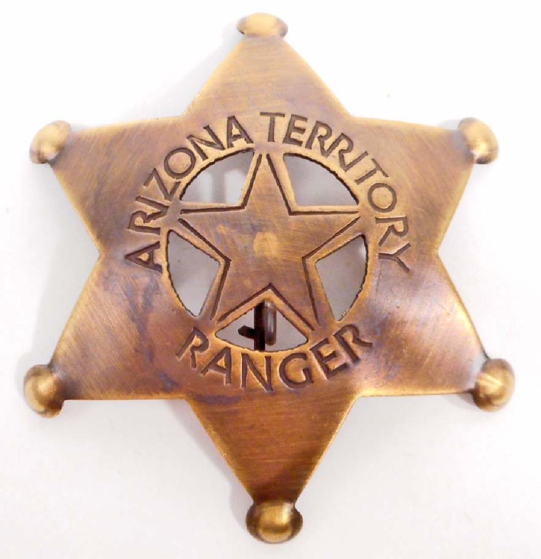 ARIZONA TERRITORY RANGER 6 POINT STAR BADGE