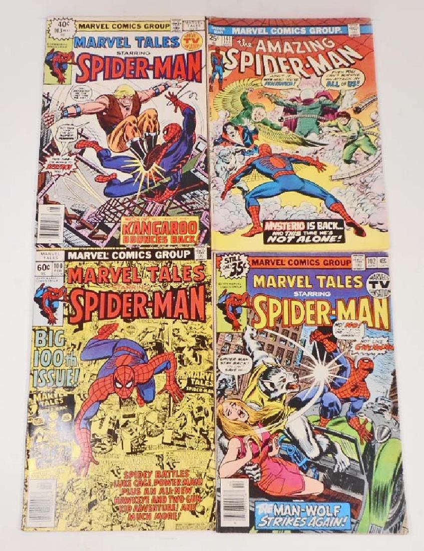 LOT OF 4 VINTAGE SPIDER-MAN COMIC BOOKS