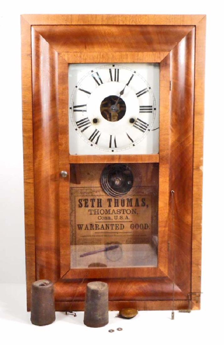 ANTIQUE SETH THOMAS WIND-UP 8 DAY CLOCK