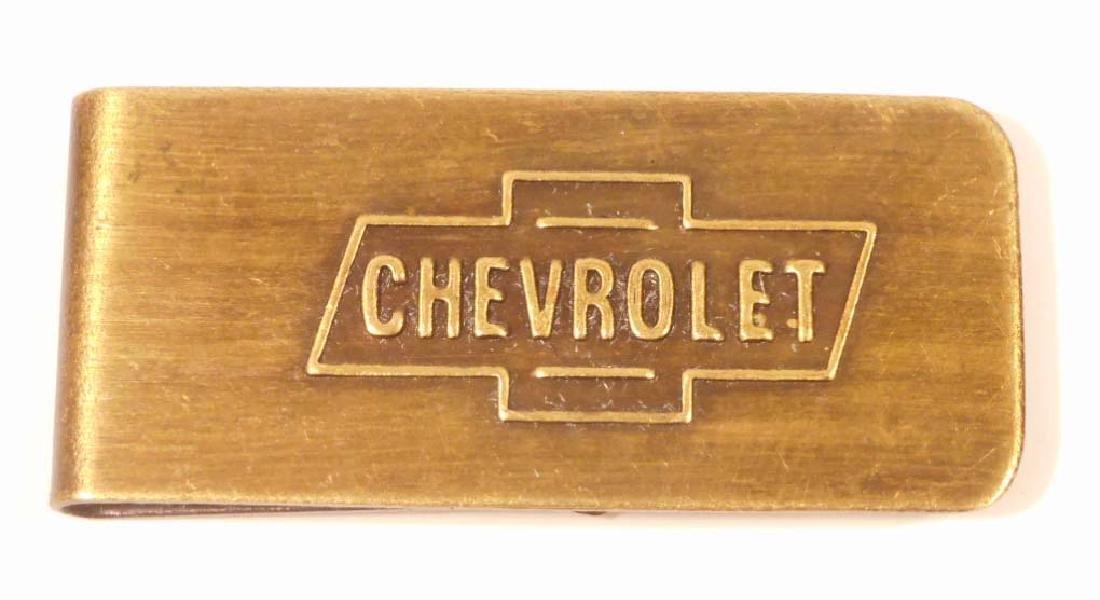 CHEVROLET AUTOMOBILE BRASS MONEY CLIP