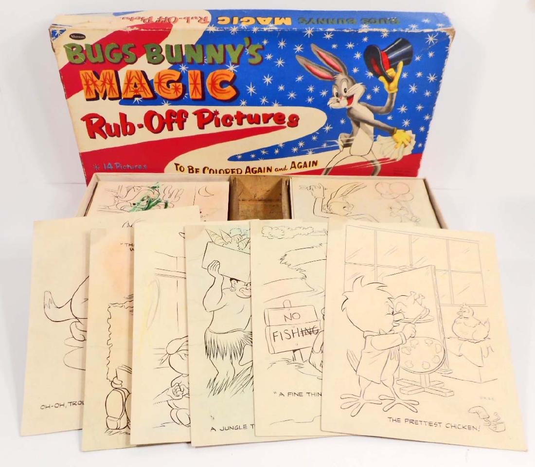1955 WARNER BROS. WHITMAN BUGS BUNNY MAGIC RUB-OFF