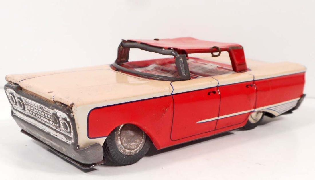 VINTAGE TIN LITHO FORD FRICTION CAR TOY