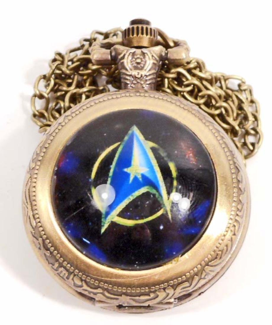 STAR TREK POCKET WATCH W/ CHAIN