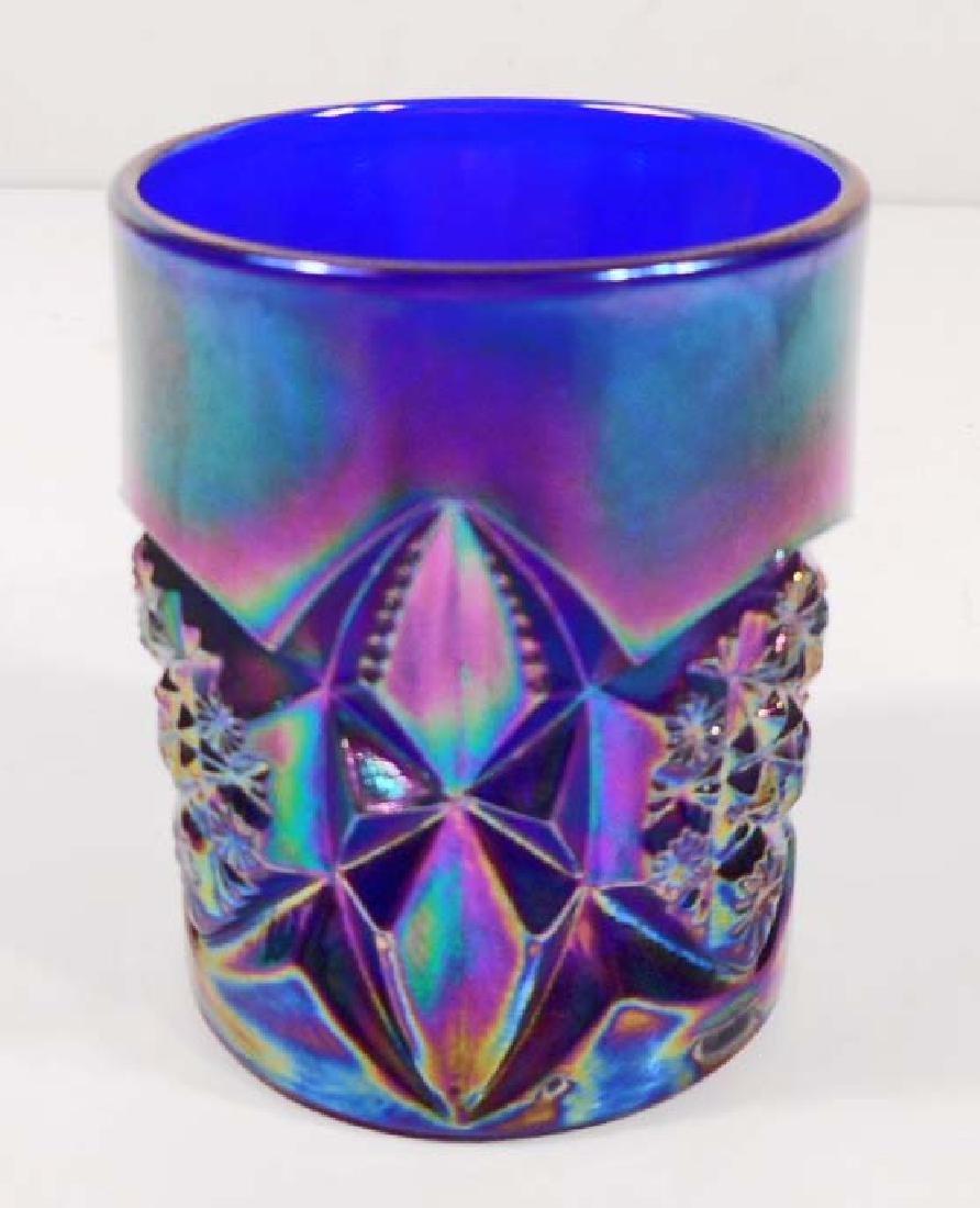 VINTAGE CARNIVAL GLASS TOOTHPICK HOLDER