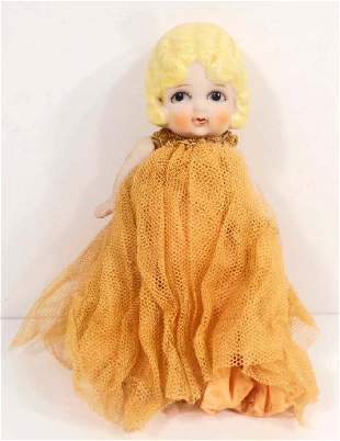 ANTIQUE JAPAN BISQUE JOINTED DOLL