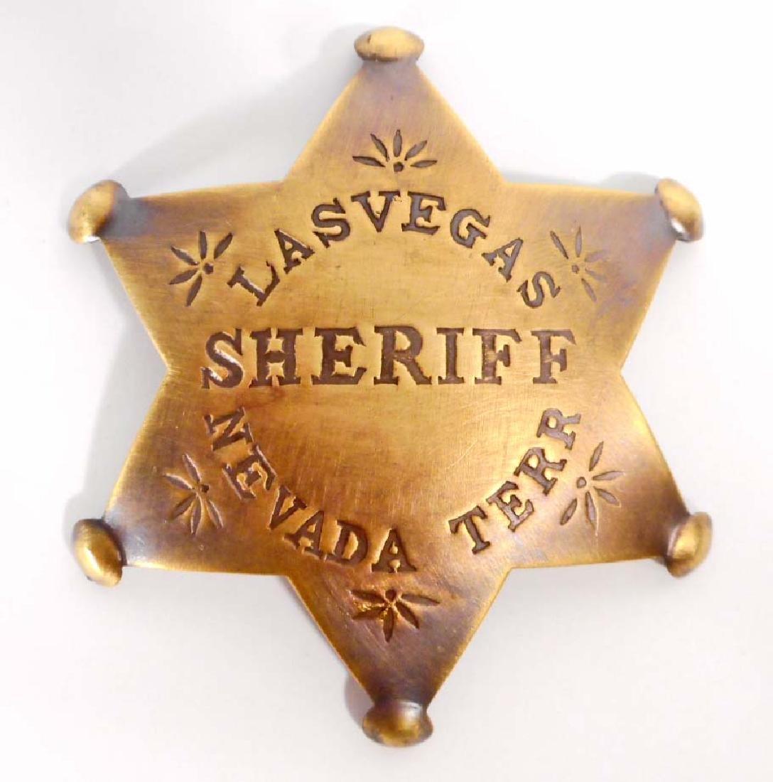 LAS VEGAS NEVADA TERR SHERIFF 6 POINT STAR BADGE