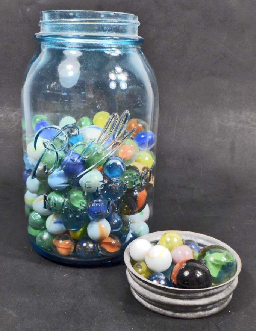 LOT OF VINTAGE MARBLES INCLUDING SHOOTERS