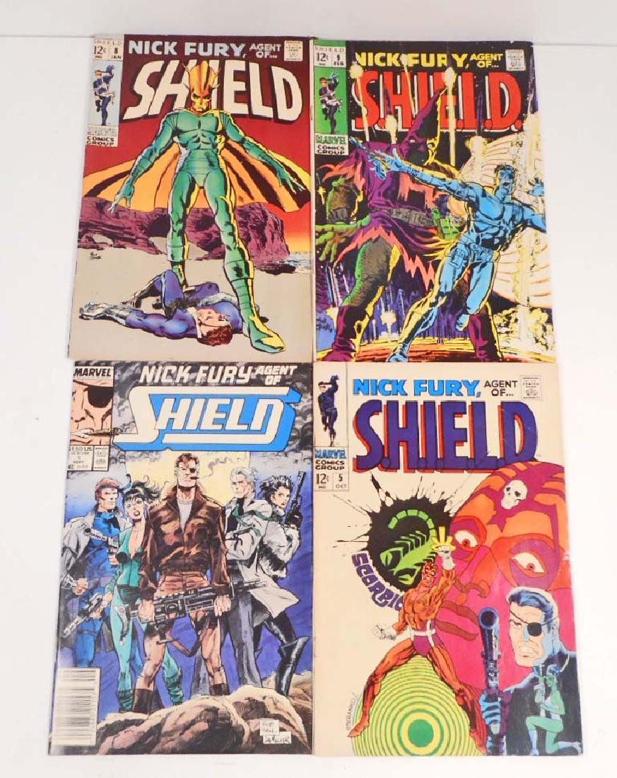 LOT OF 4 VINTAGE NICK FURY AGENTS OF SHIELD COMIC BOOKS