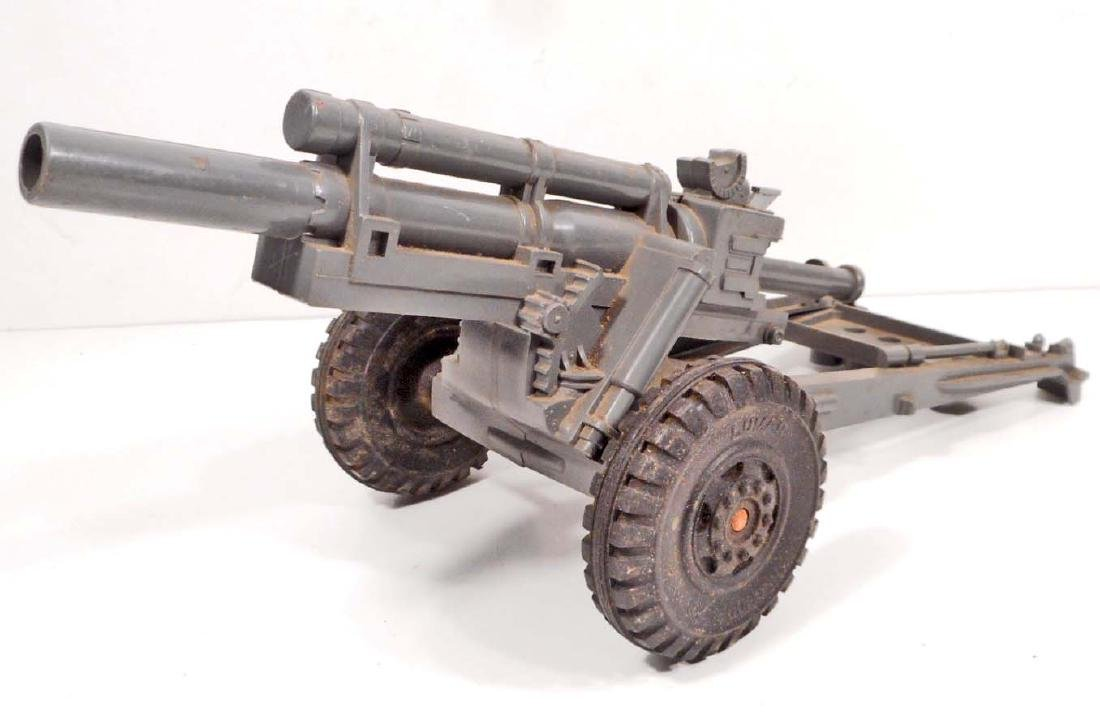 VINTAGE GRAY PLASTIC TOY CANNON