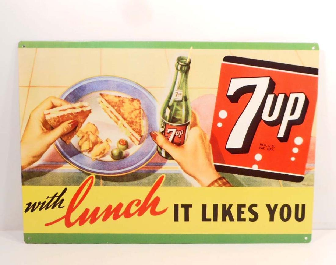 7UP ADVERTISING METAL SIGN