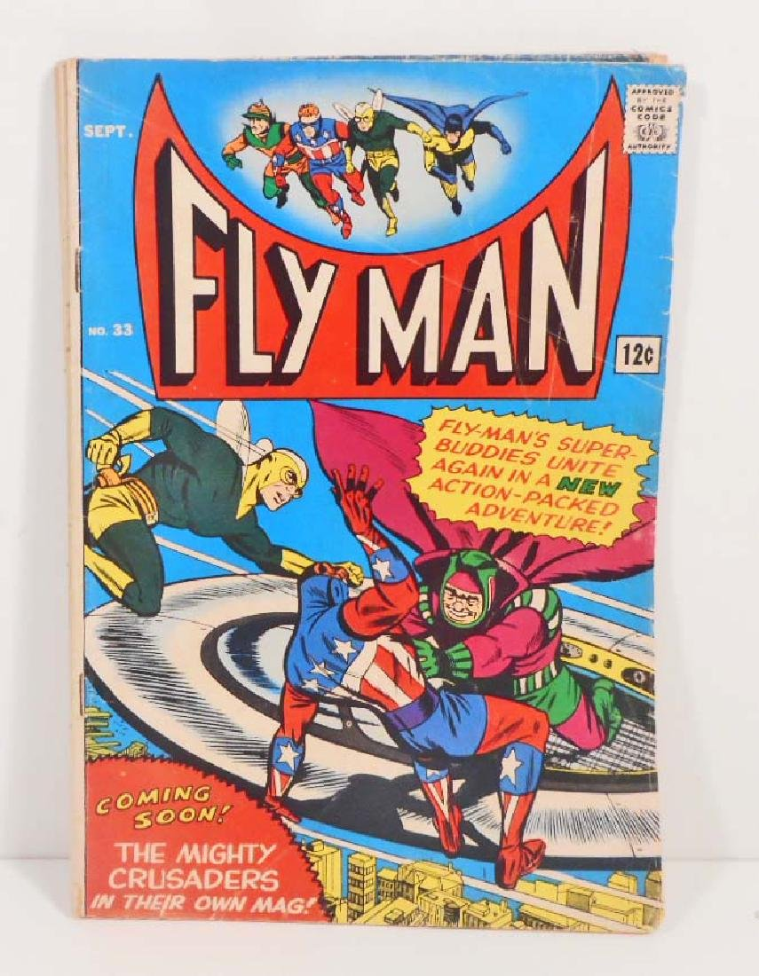 VINTAGE 1965 FLY MAN #33 COMIC BOOK - 12 CENT COVER