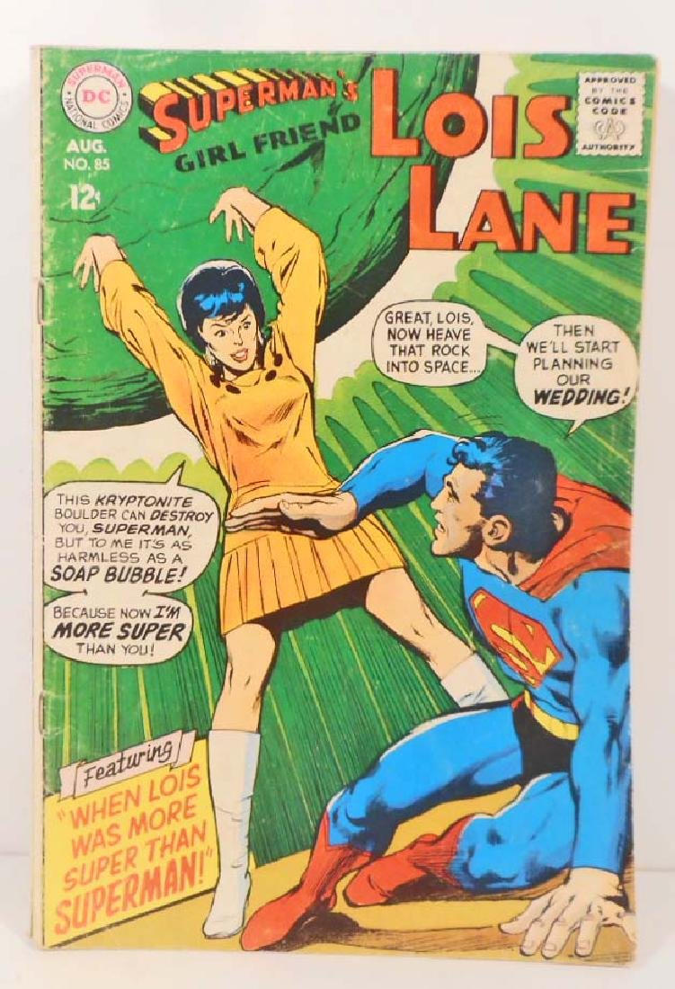 1968 LOIS LANE NO. 85 COMIC BOOK W/ 12 CENT COVER
