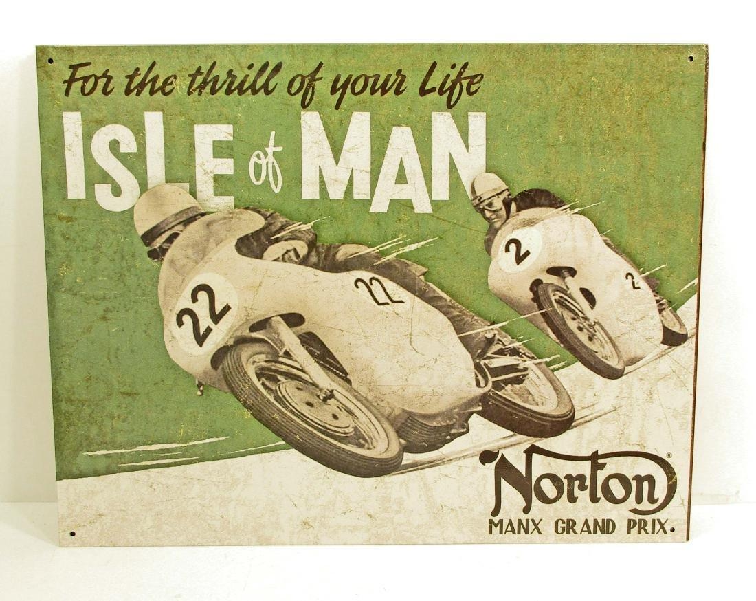 NORTON MOTORCYCLE ADVERTISING METAL SIGN