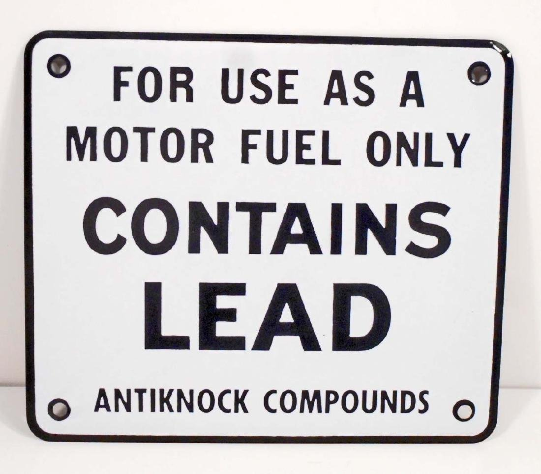 VINTAGE C. 1950'S GAS PUMP CONTAINS LEAD ANTIKNOCK