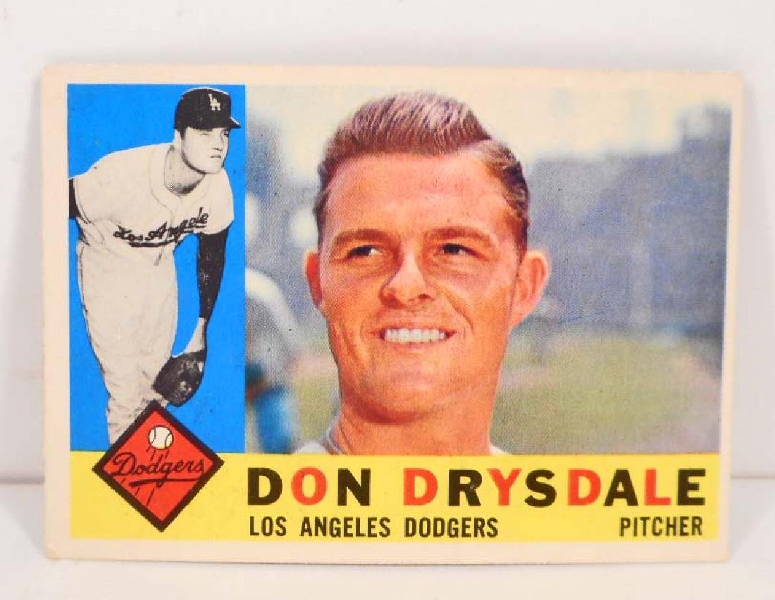 1960 TOPPS DON DRYSDALE NO. 475 BASEBALL CARD