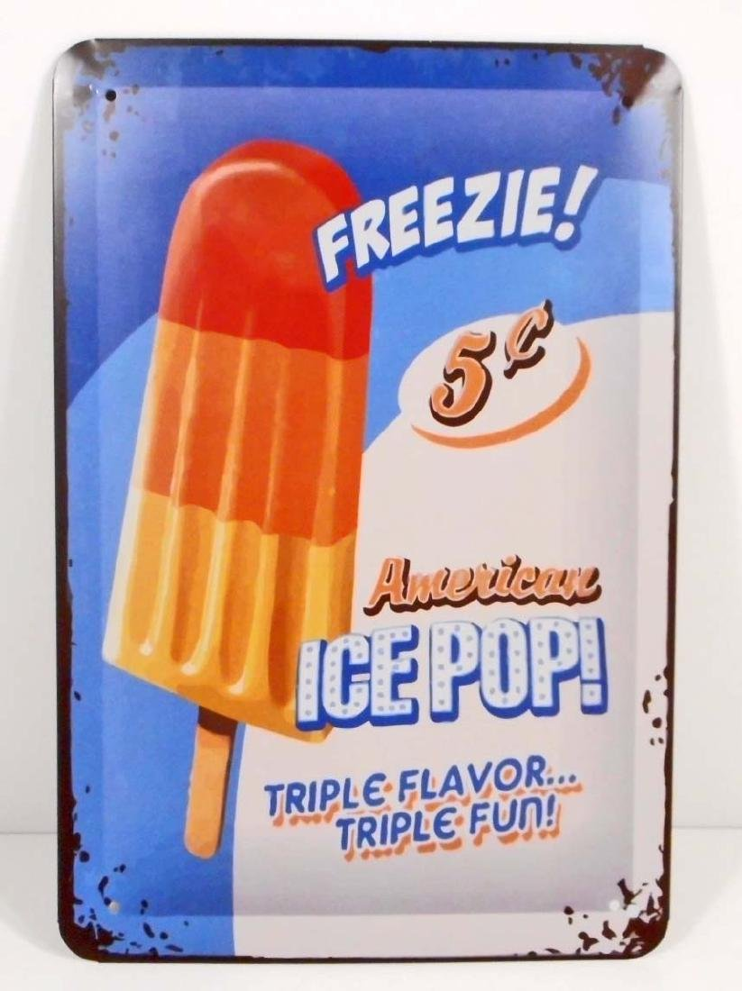 FREEZIE 5 CENT ICE POP POPCICLE METAL SIGN