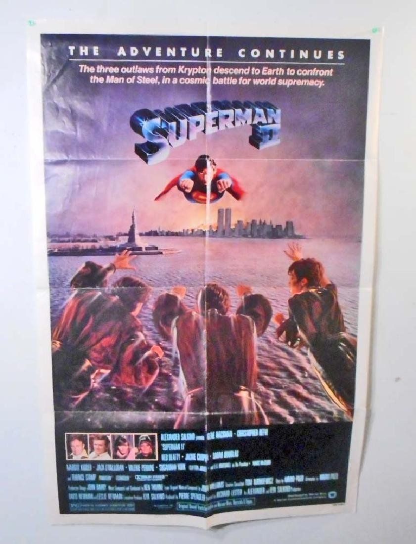 1981 SUPERMAN II ONE SHEET MOVIE POSTER W/ CHRISTOPHER