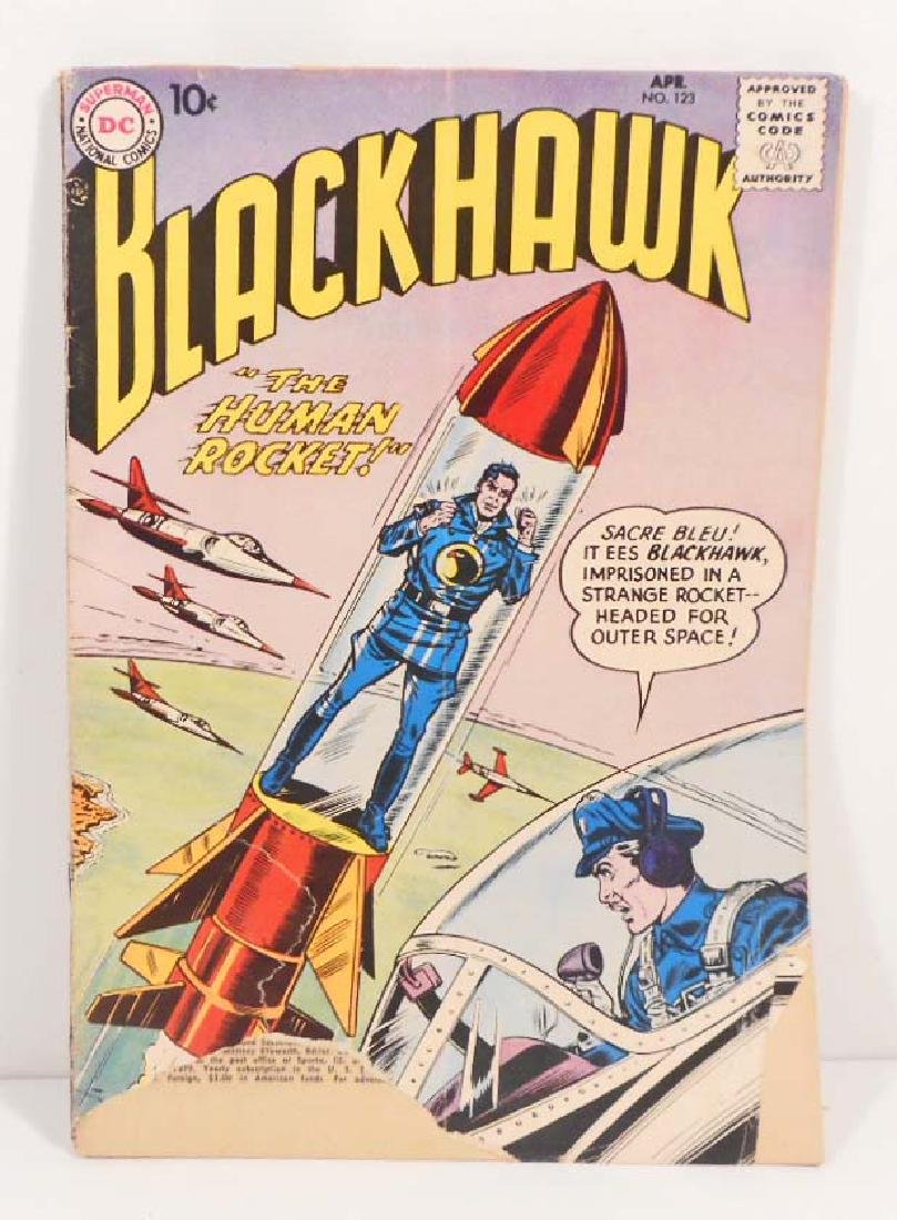 VINTAGE 1958 BLACKHAWK #123 COMIC BOOK - 10 CENT COVER