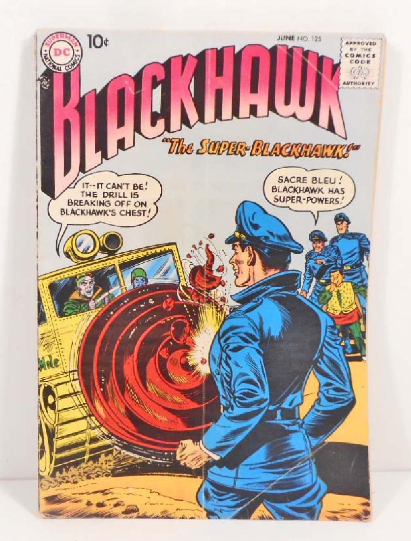 VINTAGE 1958 BLACKHAWK #125 COMIC BOOK - 10 CENT COVER