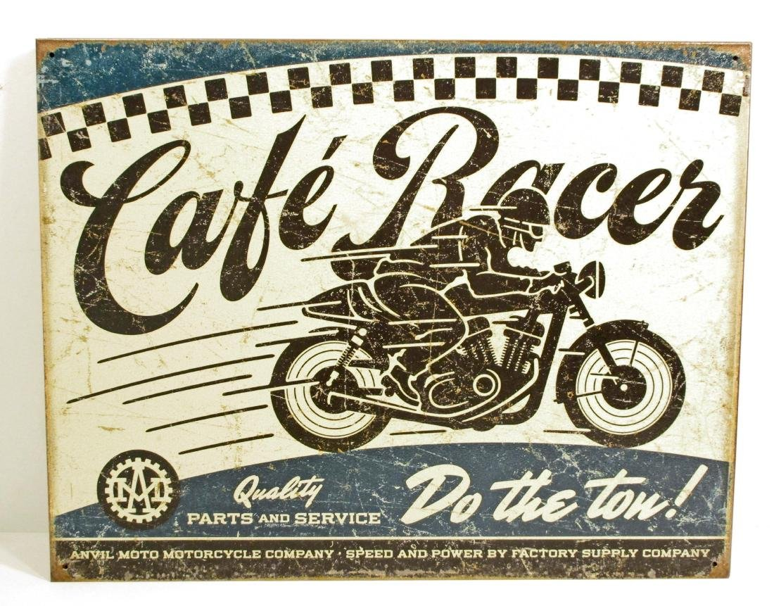 CAFE RACER MOTORCYCLE METAL SIGN