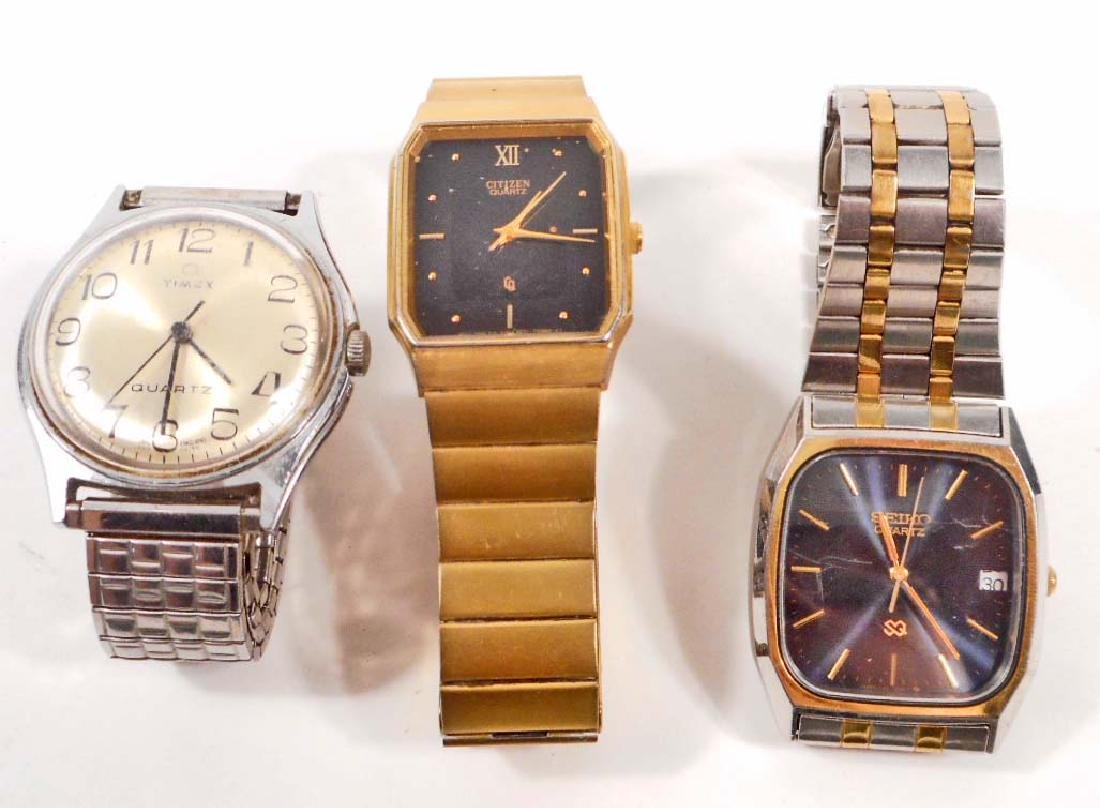 LOT OF 3 VINTAGE MENS WRIST WATCHES
