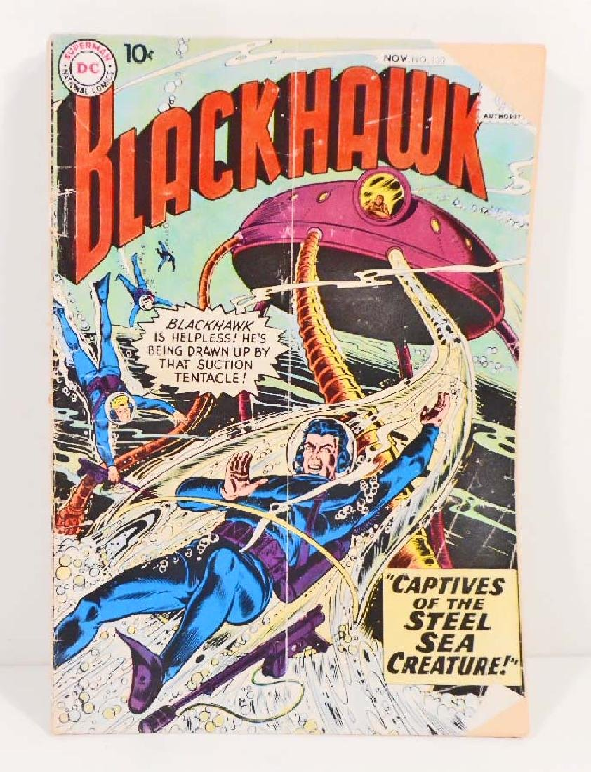 VINTAGE 1958 BLACKHAWK #130 COMIC BOOK - 10 CENT COVER