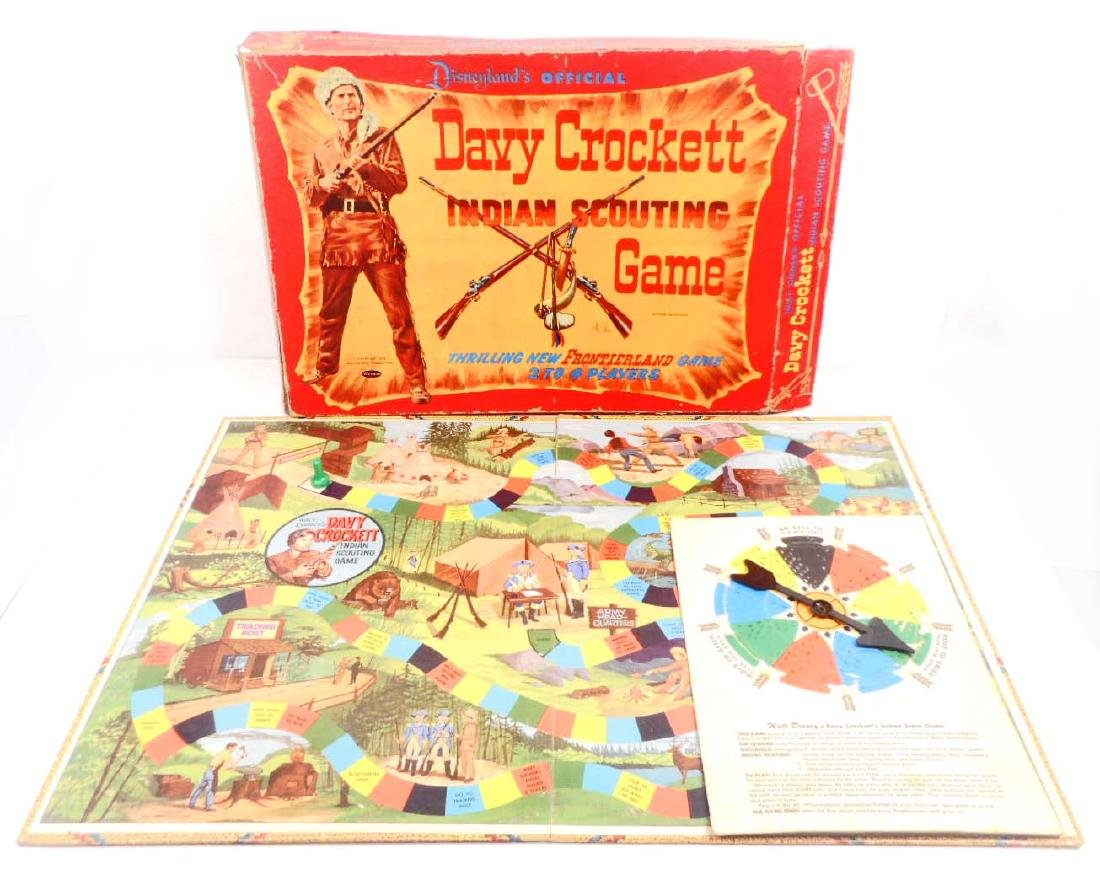 VINTAGE 1960'S WALT DISNEY DAVY CROCKETT BOARD GAME IN