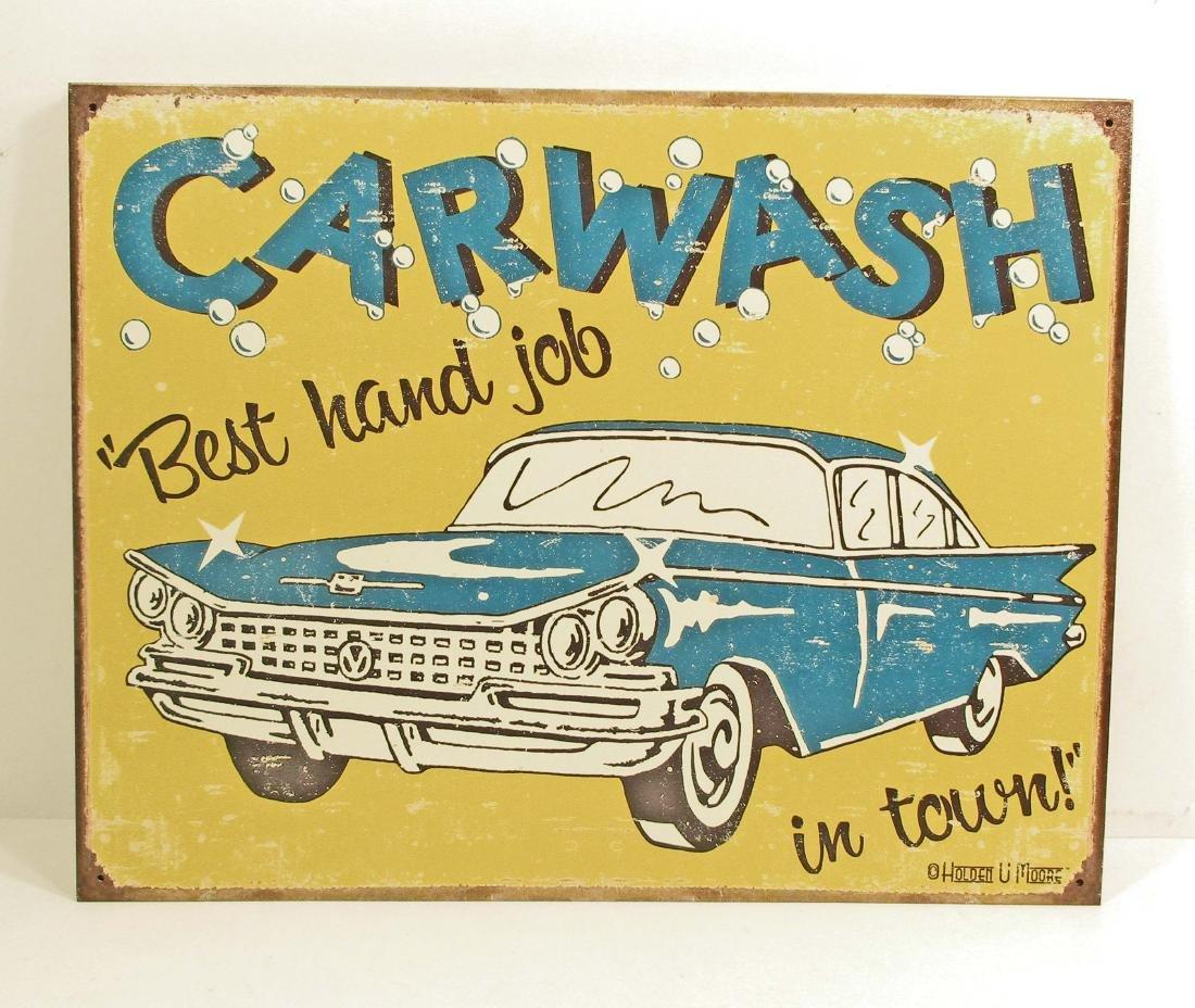 CAR WASH FUNNY METAL SIGN
