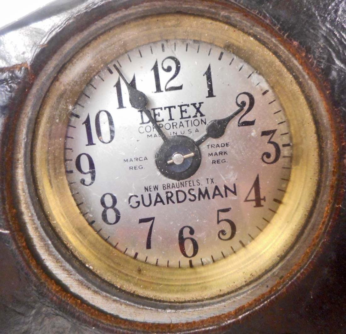 VINTAGE DETEX GUARDSMAN WATCHMANS TIME CLOCK IN - 2