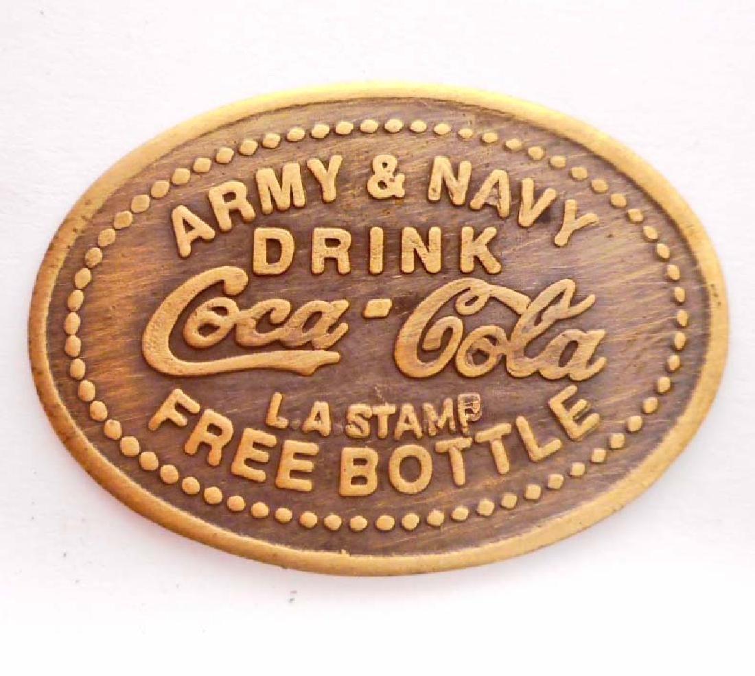 COCA COLA ARMY NAVY ADVERTISING TOKEN