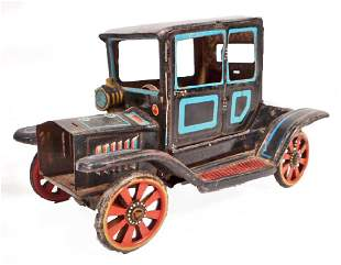 VINTAGE FORD TIN LITHO FRICTION TOY CAR
