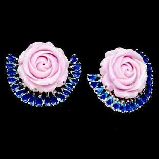 IRIDESCENT NATURAL BLUE ONYX ROSE POWDER