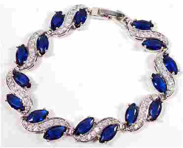 BEAUTIFUL BLUE  GEMSTONE BRACELET