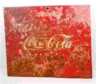 VINTAGE COCA-COLA METAL ADVERTISING SIGN