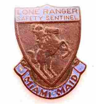 RARE 1939 LONE RANGER SAFETY SENTINEL MIAMI MAID BADGE