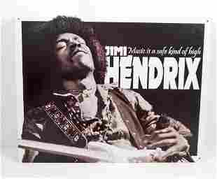JIMMY HENDRIX METAL SIGN