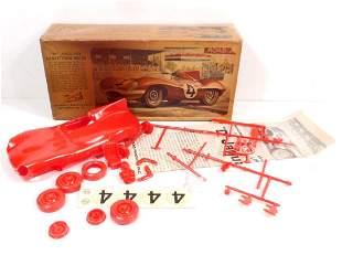 VINTAGE C. 1950'S LINDBERG D JAGUAR RACE CAR MODEL IN