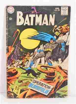 VINTAGE 1968 BATMAN #204 COMIC BOOK - 12 CENT COVER