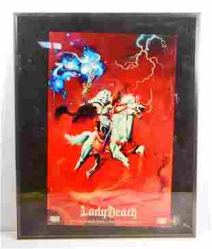 RARE LIMITED EDITION LADY DEATH CHAOS COMICS POSTER -