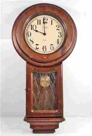 VINTAGE LINDEN CHIME WALL CLOCK W PENDULUM