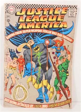 1967 JUSTICE LEAGUE NO 52 COMIC BOOK W 12 CENT COVER