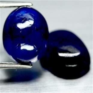 997 CT NATURAL PAIR BLUE MADAGASCAR SAPPHIRE GLASS