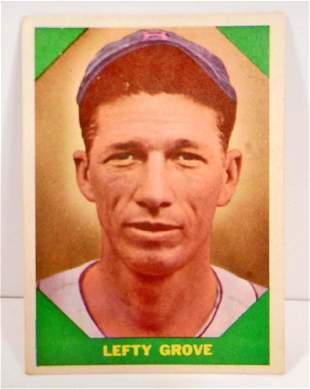 1960 FLEER LEFTY GROVE NO 60 BASEBALL GREATS CARD